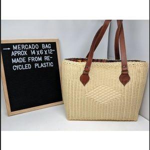Artisan handmade recycled plastic handbag